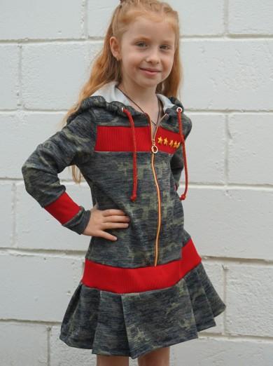 Платье Милитари Звездочки (детское)